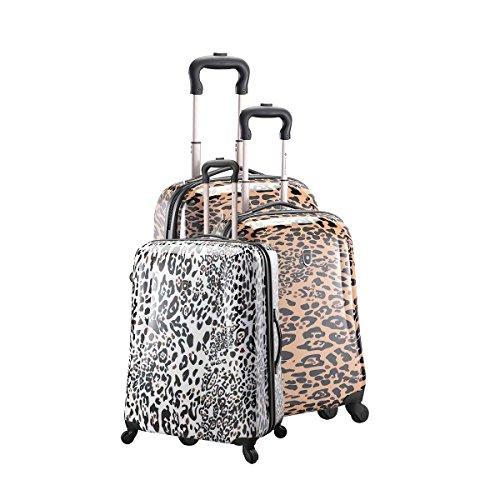 Set 3teiliges Kofferset Trolley 4Räder Leopard Braun braun one size