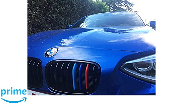 BizTech /® Clip In Grille Inserts Compatible with BMW Series 1 2012-2014 F20 F21 8 Beams Stats Bars M Power M Sport Tech Bonnet Hood Kidney Stripes Cover