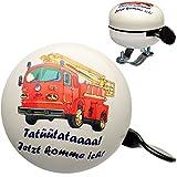alles-meine GmbH Fahrradklingel -  Feuerwehr Tatütata  - Ding Dong - 2 Klang - Stabiles Meta..