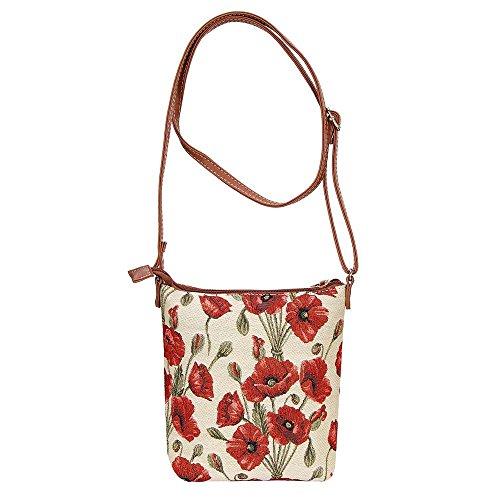 Borsa A Tracolla Da Donna Alla Moda Per Arazzi O Papavero Messenger Bag