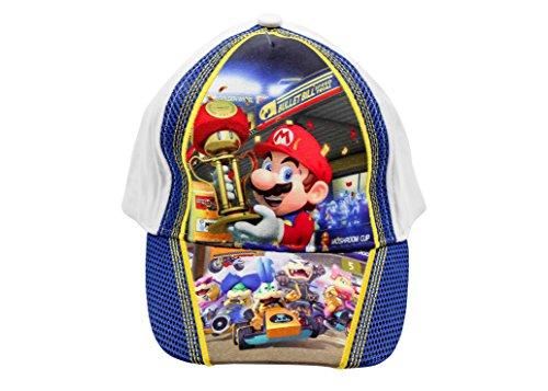 Unbekannt Sun City Kappen für Kinder, Mädchen und Jungen mit niedlichen Motiven, verschiedene Größen und Designs (54, Mario Kart)