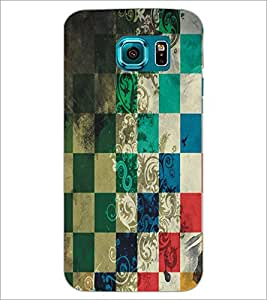 PrintDhaba Pattern D-5455 Back Case Cover for SAMSUNG GALAXY S6 EDGE (Multi-Coloured)