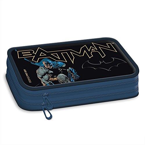 Batman pennarelli 2zip vacanti–astuccio portapenne per l' inizio della scuola–con una cerniera ideale anche per la scuola materna in asilo
