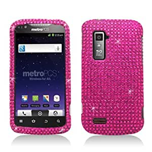 Aimo Wireless ZTEN910PCDI003 Bling Brilliance Premium Grade Diamond Case for ZTE Anthem 4G N910 - Retail Packaging - Hot Pink