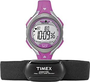 Timex Women's Quartz Watch with LCD Dial Digital Display and Pink Resin Strap T5K722F7