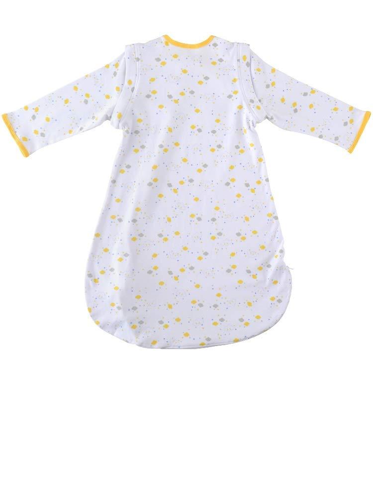 MKW BABIES – Saco de dormir 100% algodón, funda extraíble, manta suave, 0,5 TOG para 6-18 meses (nube amarilla, 6-12…