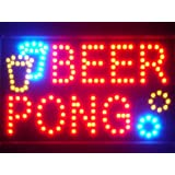 ADV PRO led015-r Beer Pong Bar Pub LED Neon Business Light Sign Barlicht Neonlicht Lichtwerbung