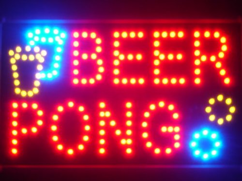 #ADV PRO led015-r Beer Pong Bar Pub LED Neon Business Light Sign Barlicht Neonlicht Lichtwerbung#