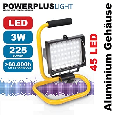 Transportable LED Arbeitsleuchte, Handleuchte 45 LED, 3 Watt - POWLI213 von VARO - Lampenhans.de