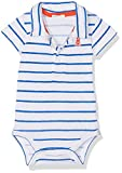 United Colors of Benetton Bodysuit, Body para Bebés, (Blue/White), 3-6 Meses (Talla del Fabricante: 62)