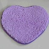 Vollter En forma de corazón antideslizante suave copetudo Alfombra alfombra de la estera estera del piso de la manta de área