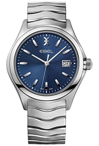 Ebel Men's Quartz Watch with Wave Analogue Quartz Stainless Steel 1216238