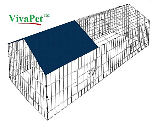 VivaPet Rabbit Puppy Cat Puppy Run with Apex Roof, With Sun Protection Net Cover, 180cm x 75cm Test