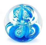 Briefbeschwerer Glaskugel, blau, 9 cm