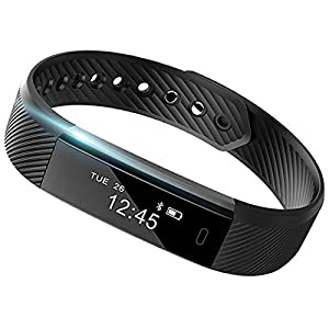 515GyRxwdcL. SS300  - SmartBand: Heart Rate Monitor Fitness Activity Tracker Watch Step Walking Sleep Counter Wireless Wristband Pedometer Exercise Tracking Sweatproof Sports Bracelet ALL iPhone ALL Android Smart Phones