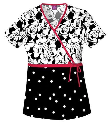 Cherokee Tooniforms Frauen Mock Wrap Tasche Top_Big Minnie_X-Small, 6625C (Wrap Mock)