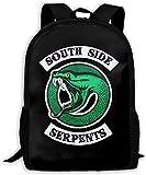 TTmom Unisex Bookbag Riverdale Serpents Southside Unisex Backpack Shoulder Bag School Backpack Travel Bags Laptop Backpack