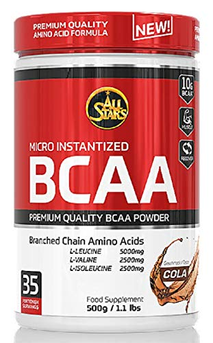 All Stars BCAA Powder, Cola, 1er Pack (1 x 500 g)