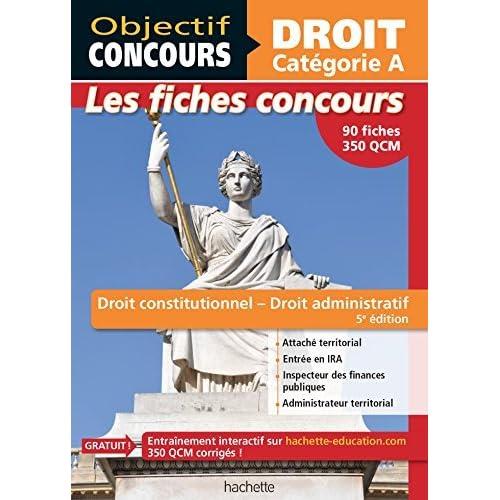 Fiches Droit constitutionnel et droit administratif - Cat A by Guillaume Merland