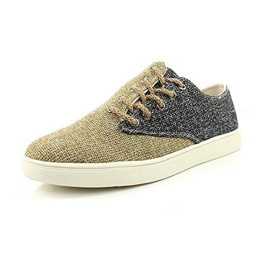 Boot Schuhe Müßiggänger Frühling Sommer japanisch Stil Beiläufig Herren Mode Leinen Espadrilles (EUR40, Schwarz) (Leinen Espadrilles)