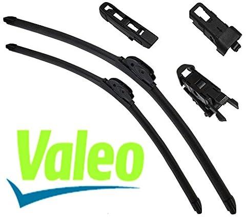 Aerzetix: VALEO Set mit 2 Wischerblätter Scheibenwischer Spezielle Schaber 60/40cm