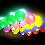 Pack of 25 LED Balloons for Party Festival Diwali Christmas New Years Celebrations – Assorted Colours