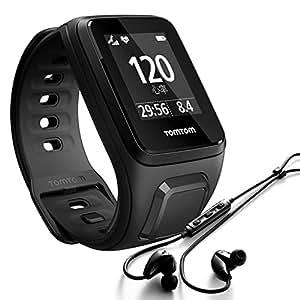 TomTom Spark Cardio + Music + Casque BT - Montre Fitness GPS - Bracelet Large Noir (ref 1RFM.003.04)
