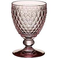 Villeroy & Boch Boston Coloured Rojo Copas de Vino, Cristal, Rosa
