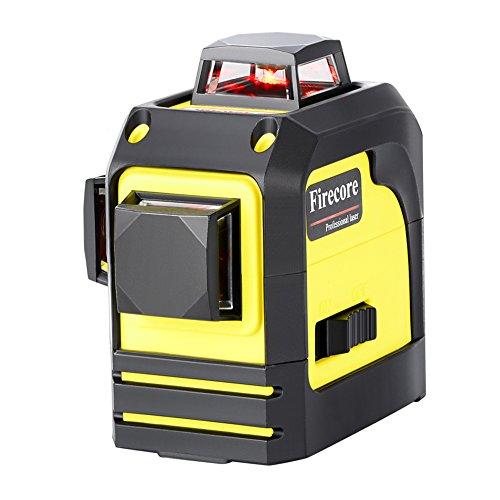 Firecore F93TR Selbstnivellierenden 3x360° Rot Kreuzlinien-Laser mit Weicher Tasche