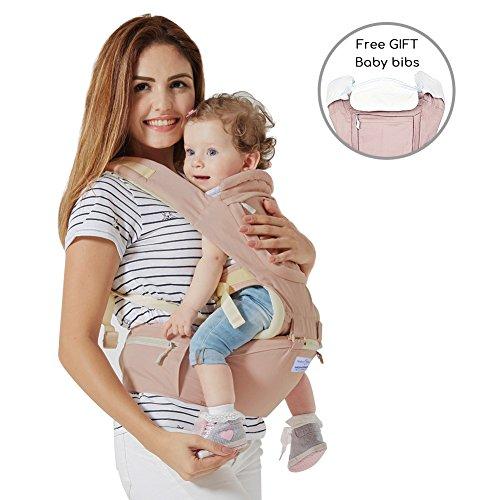 Babytrage Bauchtrage,Mondeer 9 in 1 Baby Hocker Schulter für alle Saisons, Geeignet für Baby ab 3–36 Monate, spezelles ergonomisches...