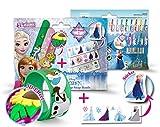 CRAZE Disney Frozen Armband Armreif-Die Eiskönigin-Mini 3D Slap-Snap-Band & Sticker 53707, bunt