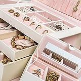 TecTake-Caja-joyero-con-espejos-para-cadena-dijes-anillo-aretes-pulsera-joyera-blanco