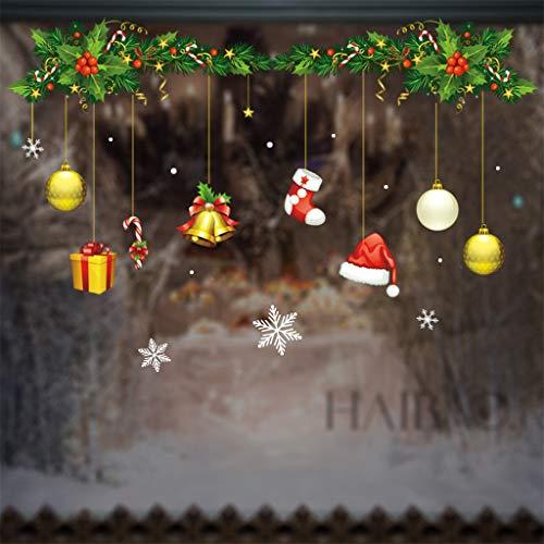 OPALLEY Schneeflocken Aufkleber, Schneeflocken Fensterbild, Weihnachtsdeko, Weihnachten Fensterdeko Set, DIY Weihnachtsdeko, Winter Dekoration FüR TüRen, Schaufenster, PVC Fensterdeko Set Und Mehr