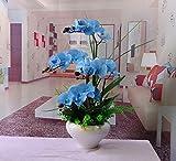 Dreamingces Künstliche Blumen Orchideen Blau Home Dekorationen für Wedding Bouquet Geburtstag Bündel Hotel Party Garten