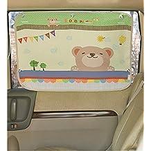 Coche Sol sombra cortina para ventana lateral para bebé Niños Niños–Coche Parasol pantalla–Bloques de más de 95% de los rayos UV y sol reflejo diseño coche interior bloqueador de Sun estor