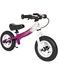 BIKESTAR® Original Premium Sicherheits-Kinderlaufrad für kleine Abenteurer ab 2 Jahren ★ 10er Sport Edition ★ Bezaubernd Berry & Diamant Weiß