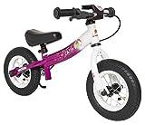 BIKESTAR® Premium Sicherheits-Kinderlaufrad für kleine Abenteurer ab 2 Jahren ? 10er Sport Edition ? Bezaubernd Berry & Diamant Weiß