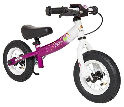 Preisvergleich Produktbild BIKESTAR® Premium Sicherheits-Kinderlaufrad für kleine Abenteurer ab 2 Jahren  10er Sport Edition  Bezaubernd Berry & Diamant Weiß
