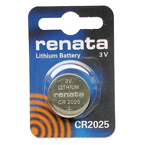 Renata CR20253V Lithium Knopfzelle Uhrenbatterie DL2025, ECR-2025, BR 2025 (Knopfzelle 2025 Lithium-batterie)