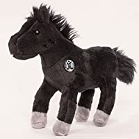 Horse BLACK BEAUTY Little horse Pony black 25 cm Plush toy by Kuscheltiere.biz