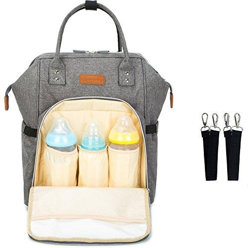 Baby Wickelrucksack Wickeltasche Reise Rucksack, Mama Rucksack Reisetasche, Isolierte Tasche, Wasserdicht Stoffe, Multifunktional, Passform für Kinderwage,Große Kapazität Modern Einzigartig Tragbar Test