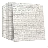 Happytoys 70x77cm PE Foam 3D Wall Stickers Safty Home Decor Wallpaper Sticker,white