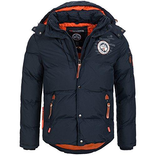 Geographical Norway VENISE Herren Winterjacke Jacke Outdoor warm gefüttert Gr. S-XXXL, Größe:L;Farbe:Navy