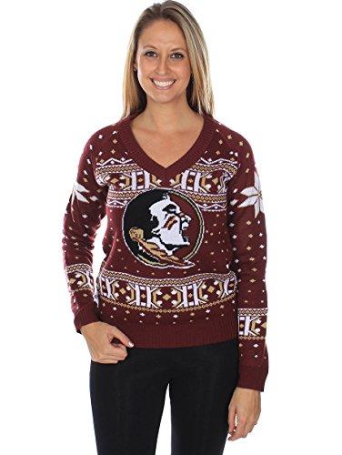 9d563f9617 Tipsy Elves Femme Florida State University – FSU Seminoles Ugly Pull de  Noël