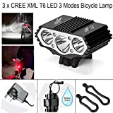 Best Cree Bike Lights - Constepor Super Bright bicycle light,7X T6 Cree Bicycle Review