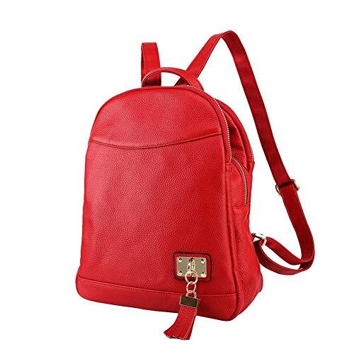 Damen Rucksack Mode Leder Freizeit Tasche Diebstahlsicheres Leder Leichte Schultertasche Brieftasche Schwarz Rot-red - Nike Post