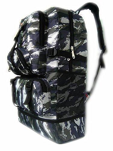 Dlflyb Camouflage Reiten Rucksack Outdoor Travel Rucksack Super Kapazität Männer Und Frauen 60 L Bergsteigen Tasche Wave camouflage