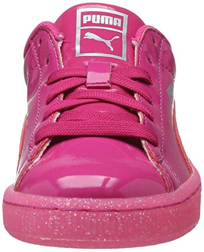 Puma Basket Patent Iced Glitter Ps, Sneakers Basses Mixte Enfant Violet (Beetroot Purple-beetroot Purple 01)