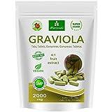 Graviola Presslinge 120 x 2000mg Frucht- und Pflanzenextrakt 4:1 Vegan, Qualitätsprodukt von MoriVeda - Sauersack (1x120 Tabs)