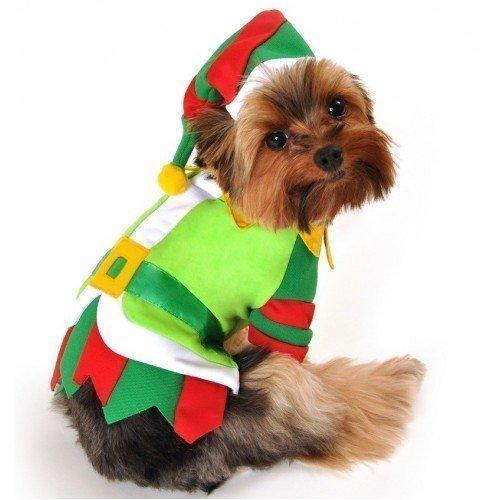 Junge Haustier Hund Katze Weihnachtsmann Weihnachtselfe Geschenk Kostüm Kleid Kostüm Outfit Kleidung XS-XL - (Für Hunde Weihnachtsmann Outfit)